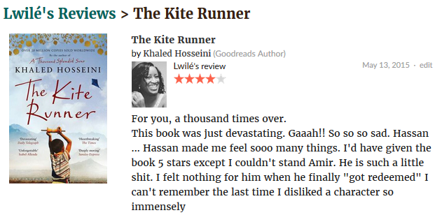 My The Kite Runner review