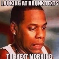 Jay Z drunk texting