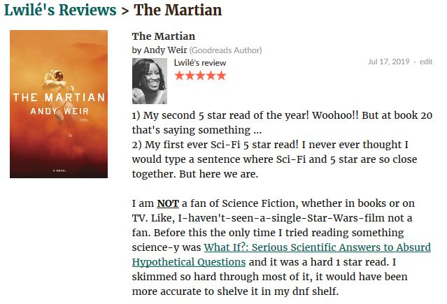 The Martian review 1