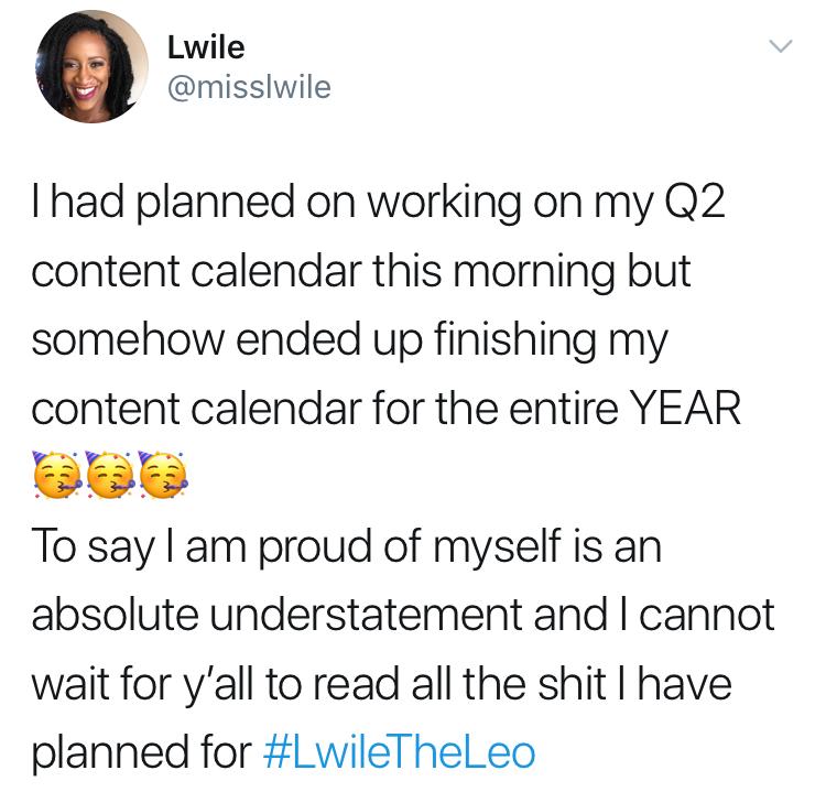 2020 content calendar