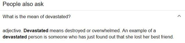 Devastated synonym