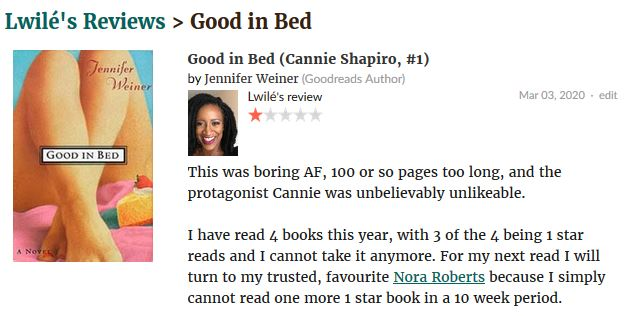 Good in Bed review