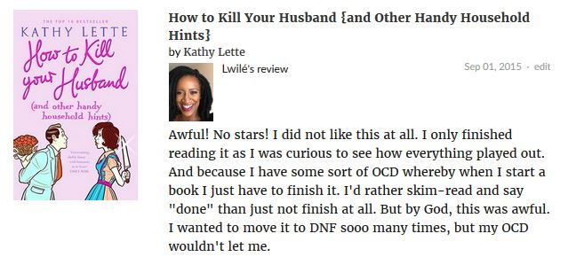 How to Kill Your Husband {and Other Handy Household Hints} by Kathy Lette review 1
