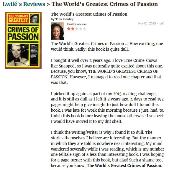 The World's Greatest Crimes of Passion review