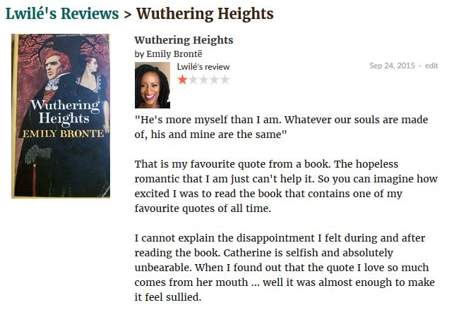 Wuthering Heights review 1